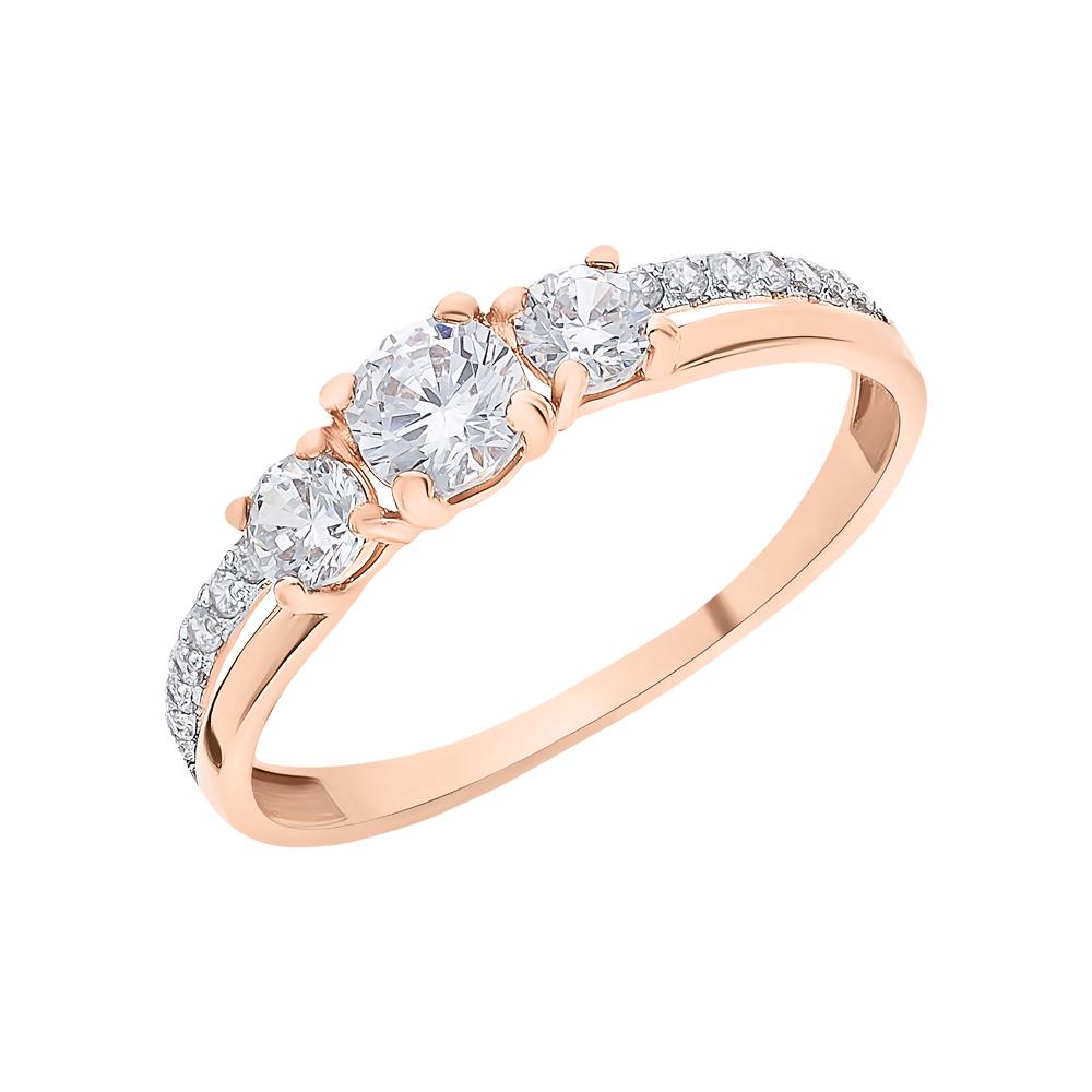 Фото «Золотое кольцо с фианитами SOKOLOV 018468*»