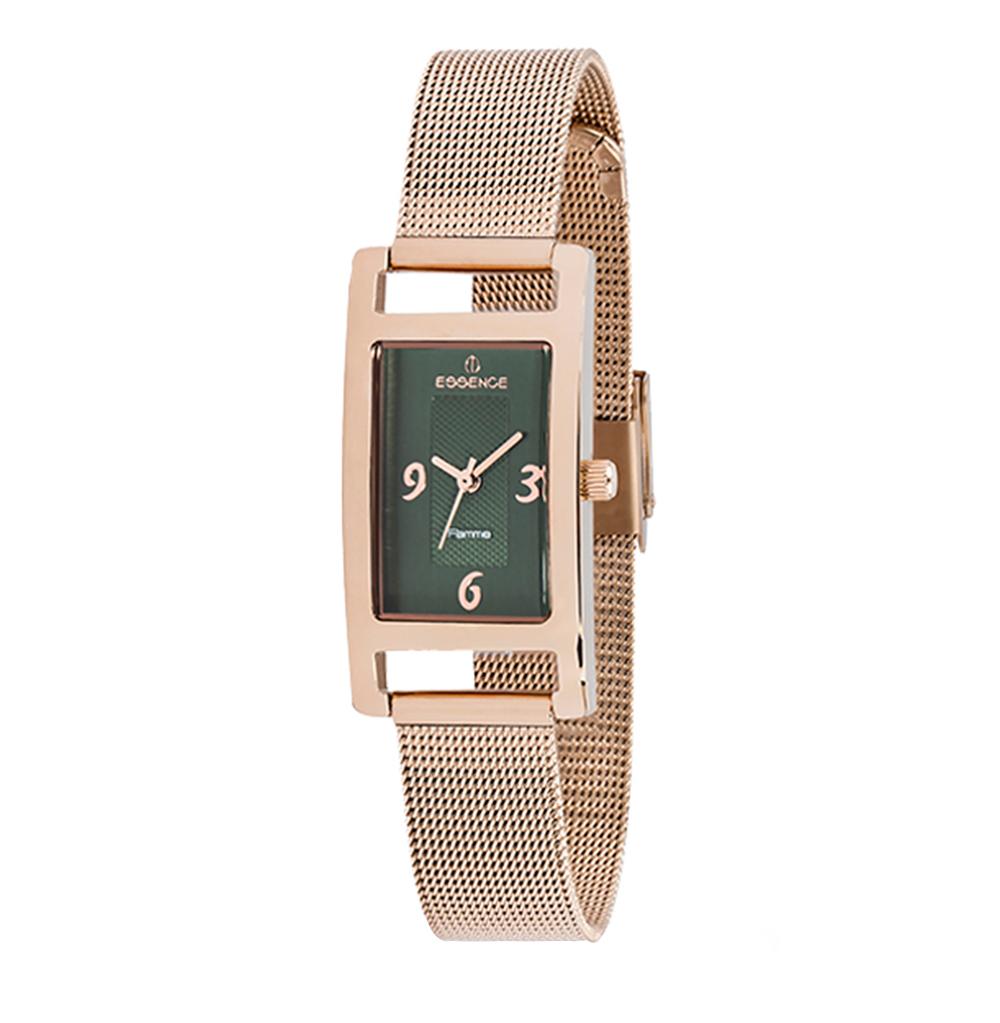 Женские часы D916.490 на стальном браслете с розовым PVD покрытием с минеральным стеклом