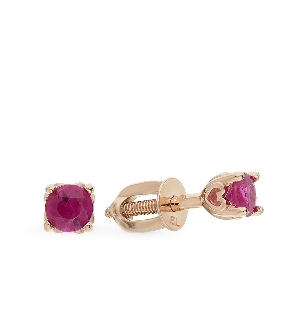 Фото «Золотые серьги с рубинами»