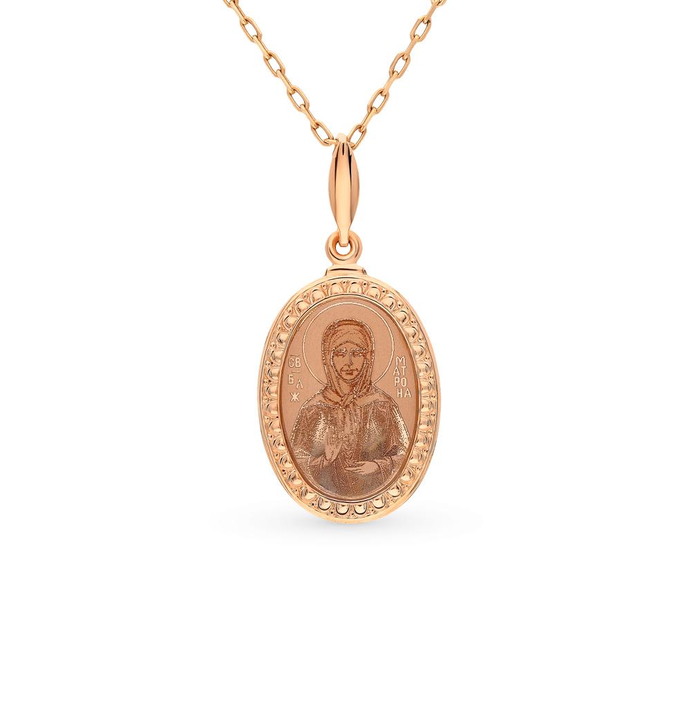 золотая подвеска с эмалью SOKOLOV 101340*