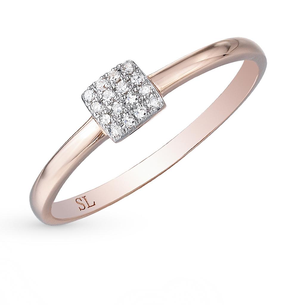 a838d39c1e5a Золотое кольцо с бриллиантами SUNLIGHT  красное и розовое золото 585 ...