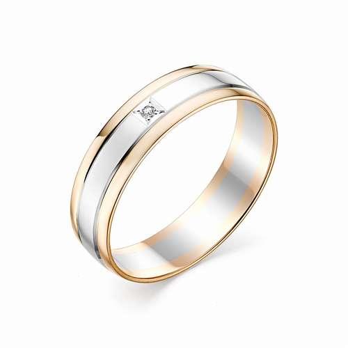 Золотое кольцо с бриллиантами АЛЬКОР 12231-100: розовое золото 585 пробы, бриллиант — купить в Екатеринбурге, фото, артикул 48437 — интернет-магазин SUNLIGHT