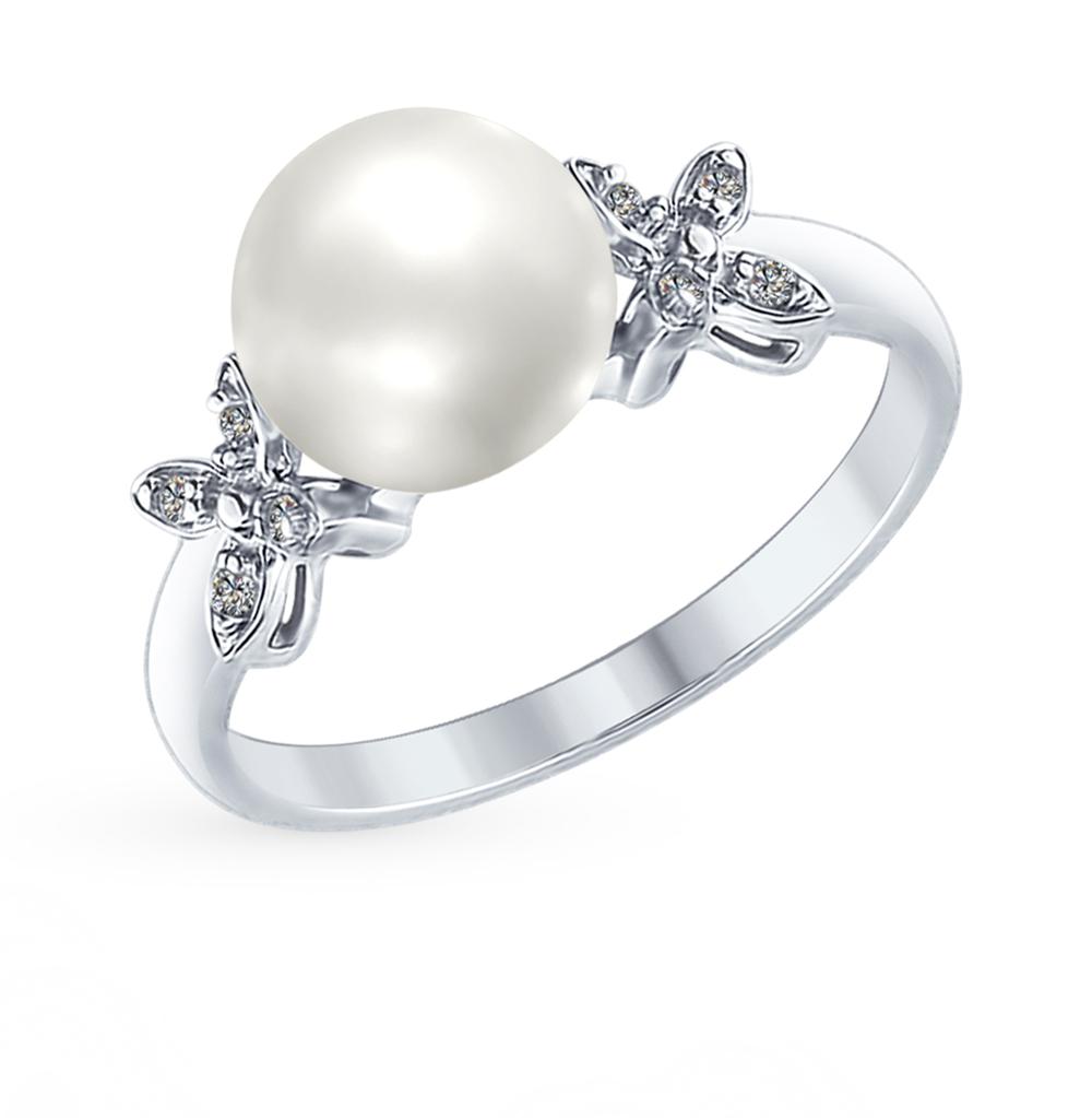 серебряное кольцо с кубическими циркониями SOKOLOV 94012589