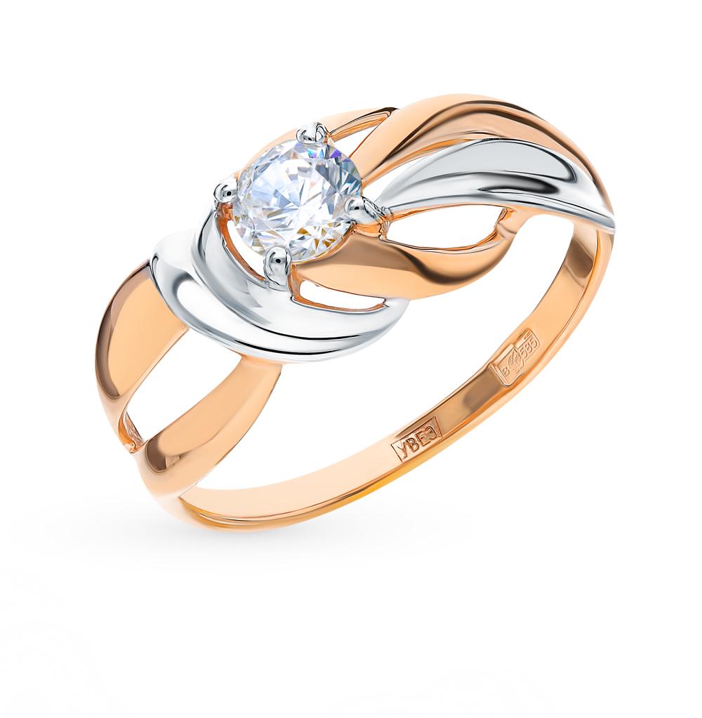 золотое кольцо с фианитами SOKOLOV 017667*