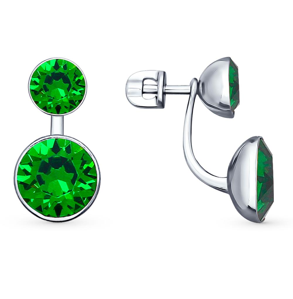 Фото «серебряные серьги с кристаллами swarovski»
