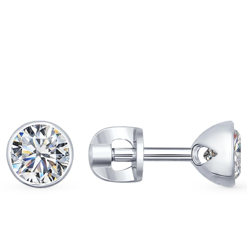 серебряные серьги с фианитами SOKOLOV 94021901