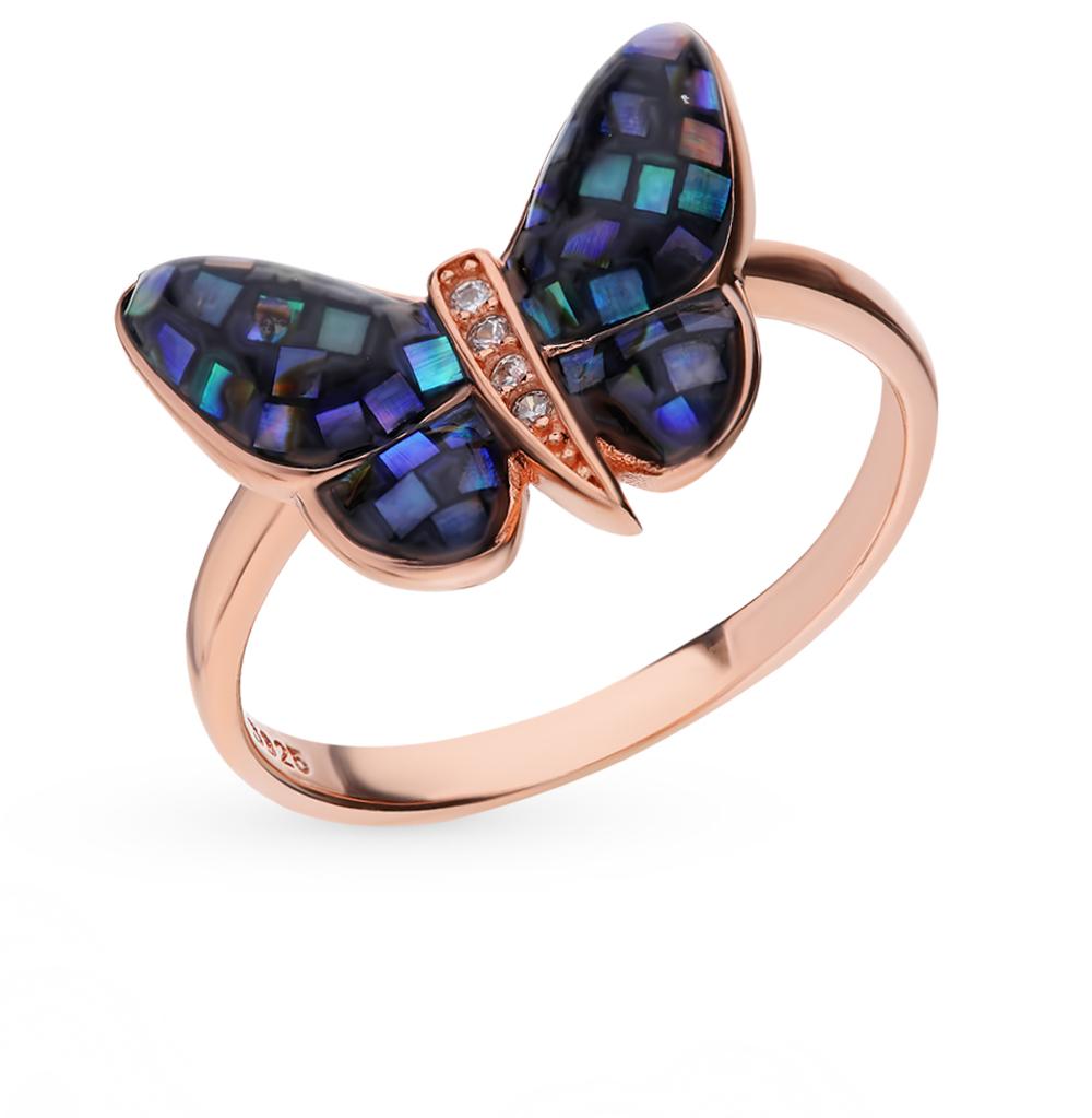 серебряное кольцо с перламутром