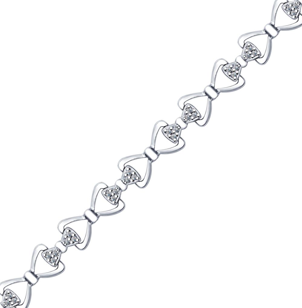 серебряный браслет с фианитами SOKOLOV 94050382
