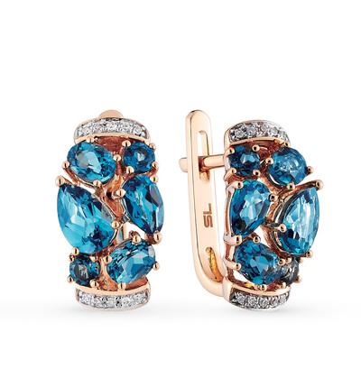 Фото «серьги с топазами и бриллиантами»