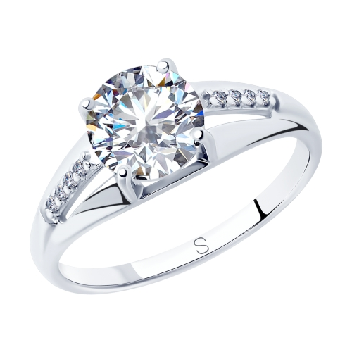 Фото «Серебряное кольцо с фианитами SOKOLOV 94012824»