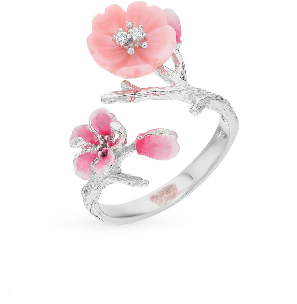 Серебряное кольцо с перламутром и эмалью в Екатеринбурге