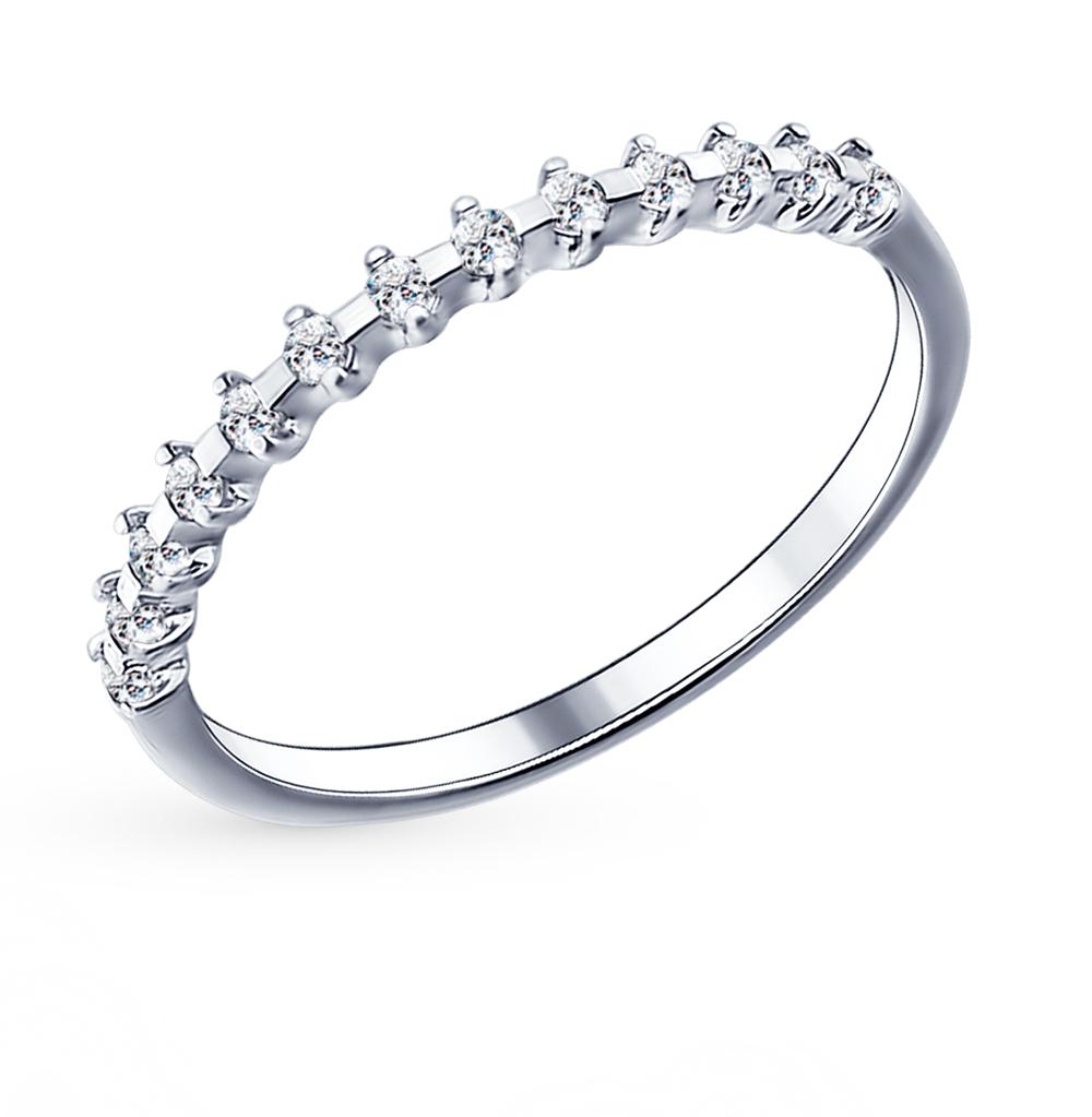 Фото «Серебряное кольцо с фианитами SOKOLOV 94011488»