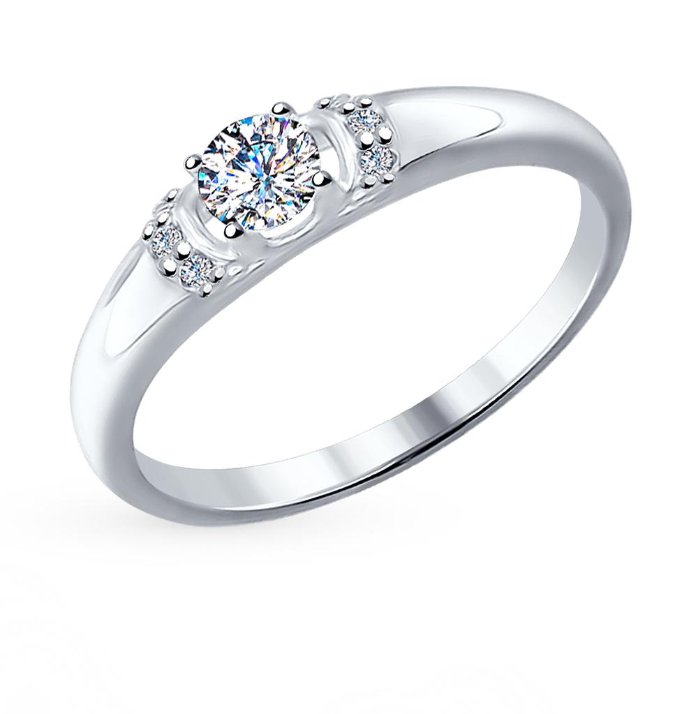 серебряное кольцо с фианитами SOKOLOV 89010035