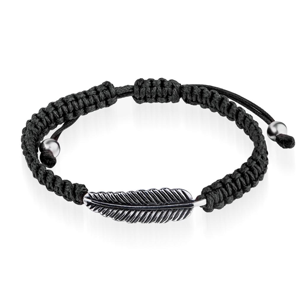 Фото «браслет из стали и текстиля с эмалью»