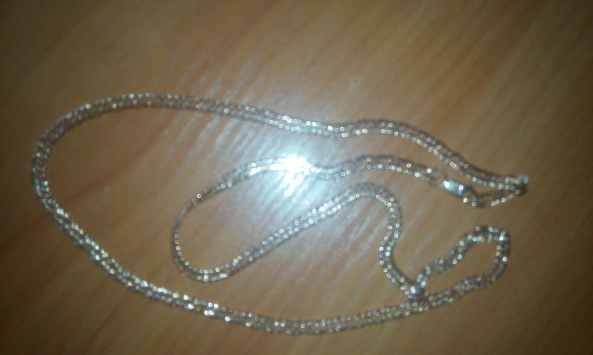 Цепь серебро с позолотой