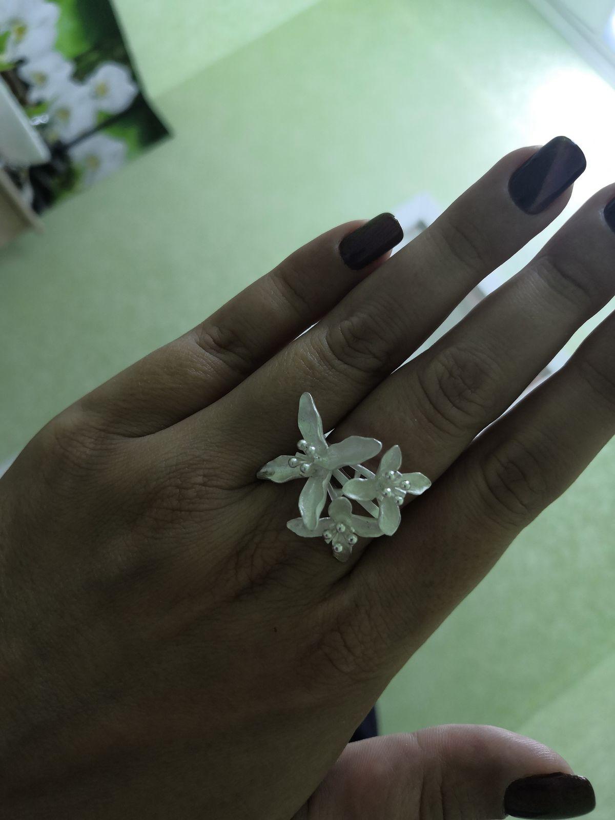 Матовое серербряное кольцо