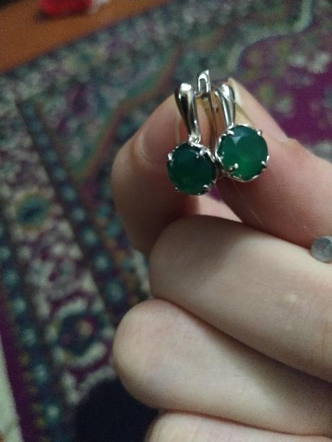 Комплект кольцо и серьги