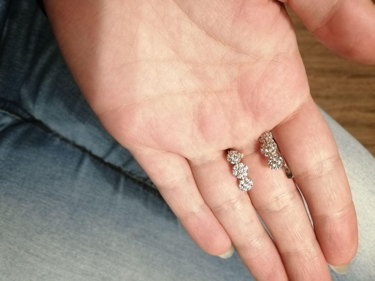 Серебряные серёжки с фианитами