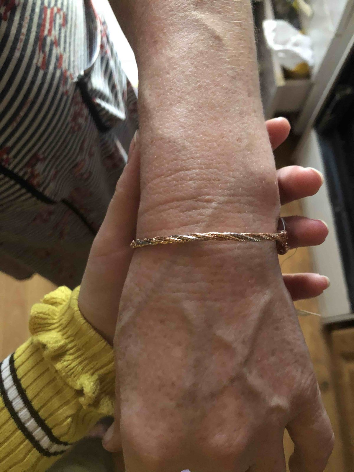Серебряный браслет, позолоченный