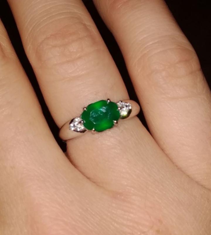 Серебряное кольцо с агатом.