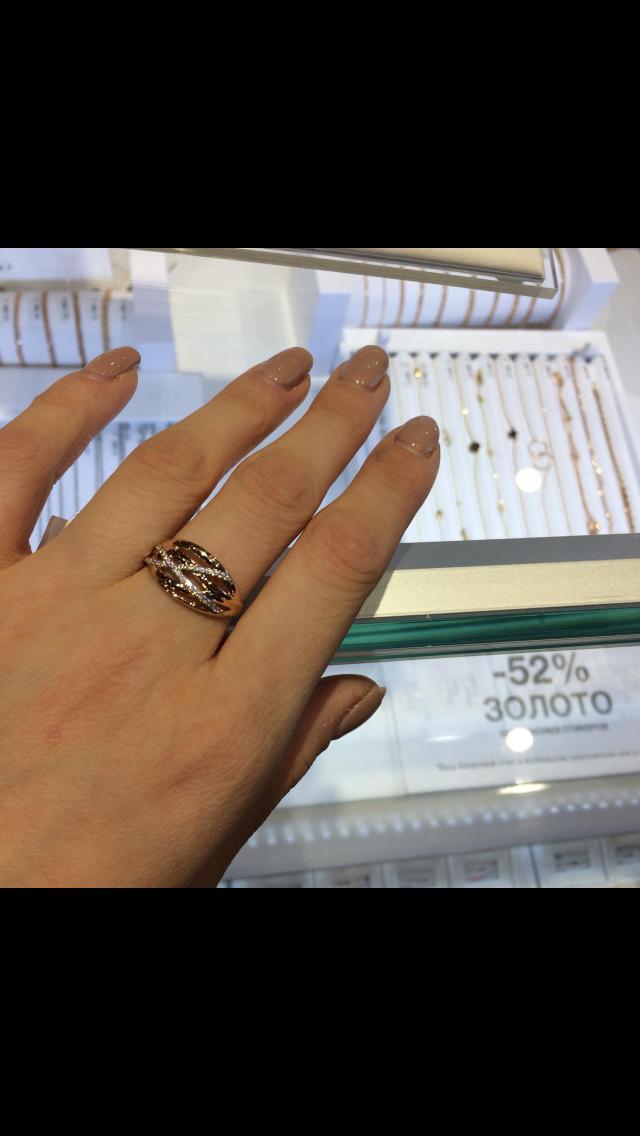 Кольцо золотое на подарок