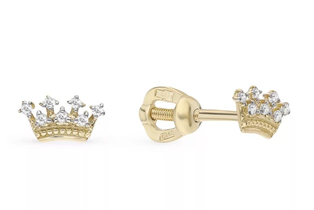Серьги с короной