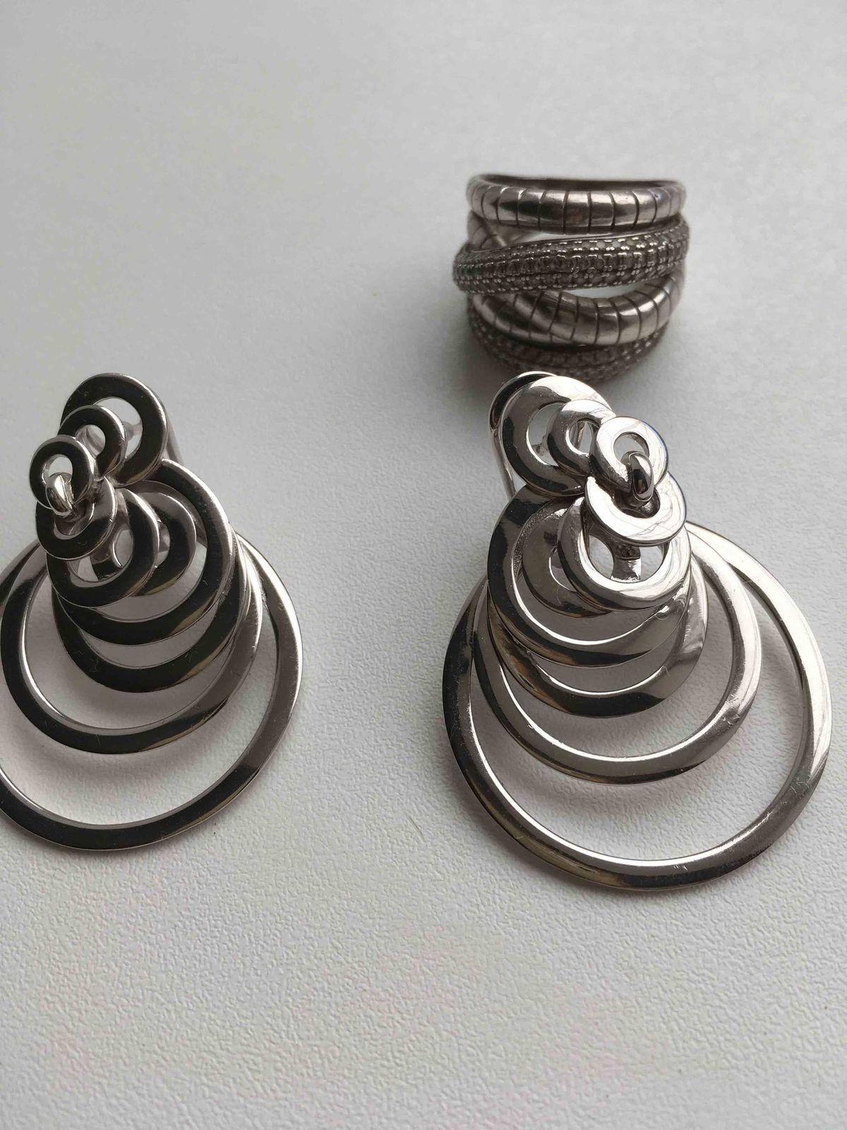 Современные, серебряные сережки