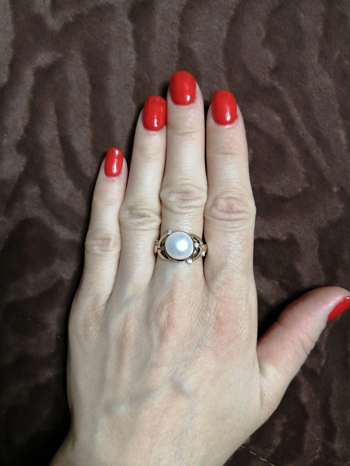 Кольцо с жемчугом очень красивое