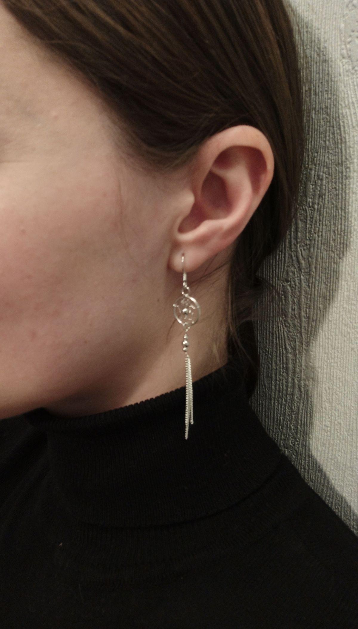 Невесомые серебряные серьги