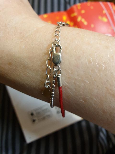 Изящный серебряный браслет