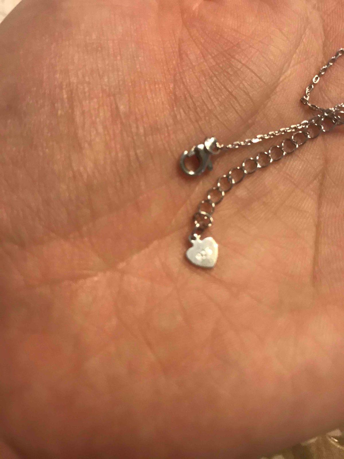 Серебряная подвеска в форме сердца с ключиком