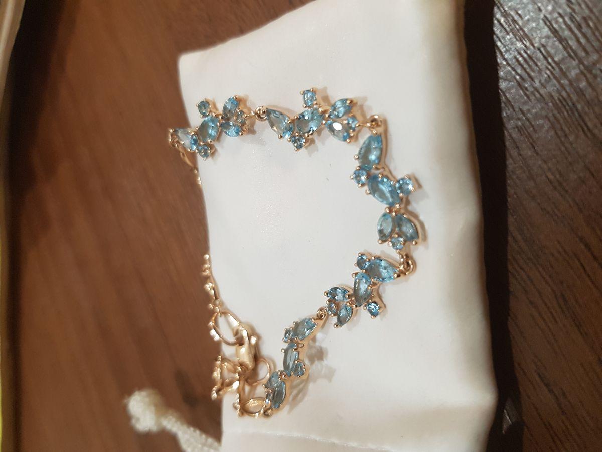 Золотой браслет с топазами SOKOLOV