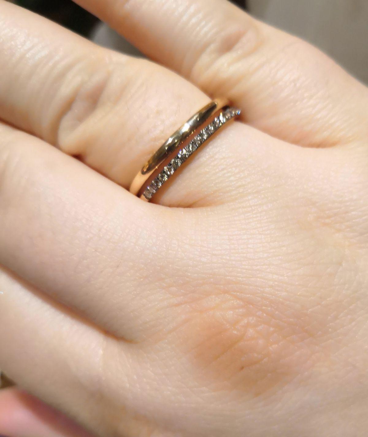 Обручальное кольцо с коньячными бриллиантами