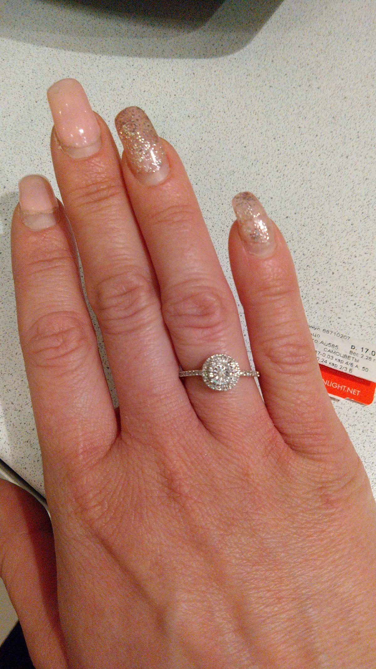 Сказочное 💃 золотое кольцо с бриллиантами