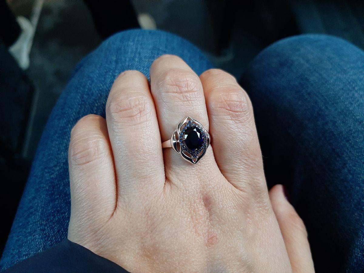 Серебряные серьги и кольцо с круглом и фианитами от соколов в ТЦ солнечный!
