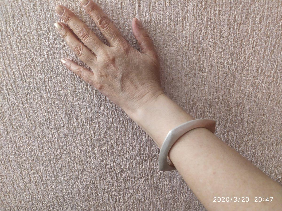 Серебряный матовый браслет