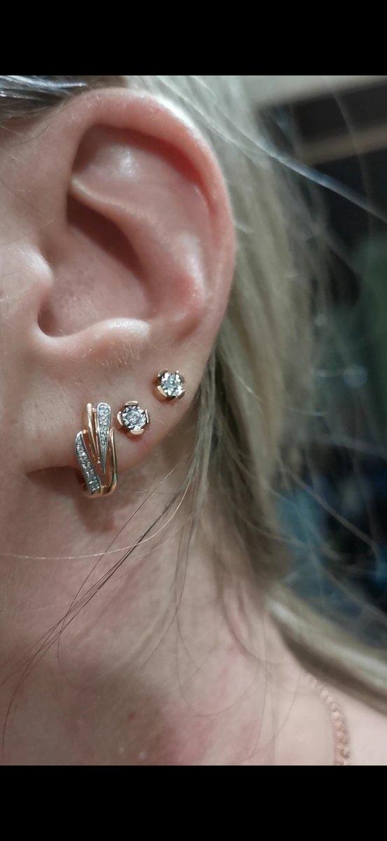Нежные серьги с бриллиантами 🔥