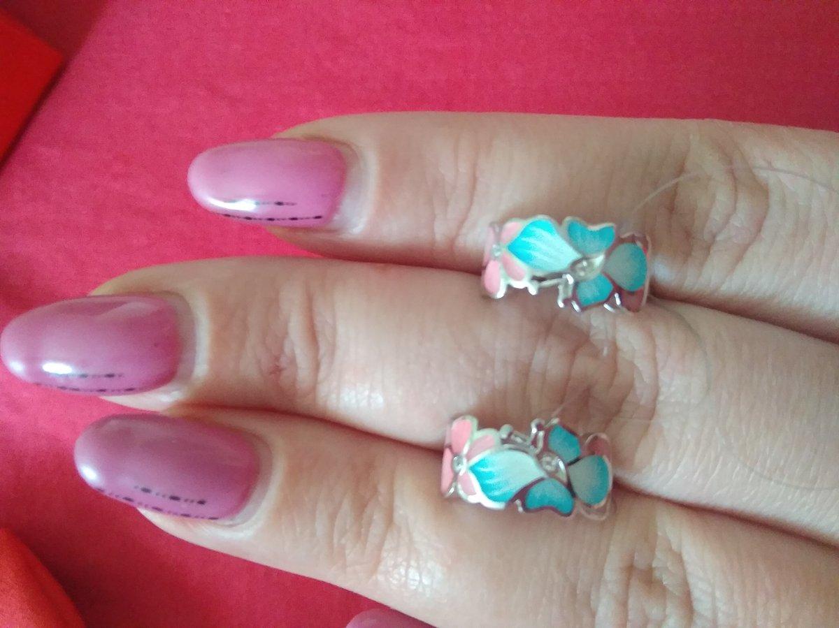 Серебрчные серьги с феанитами и эмалью