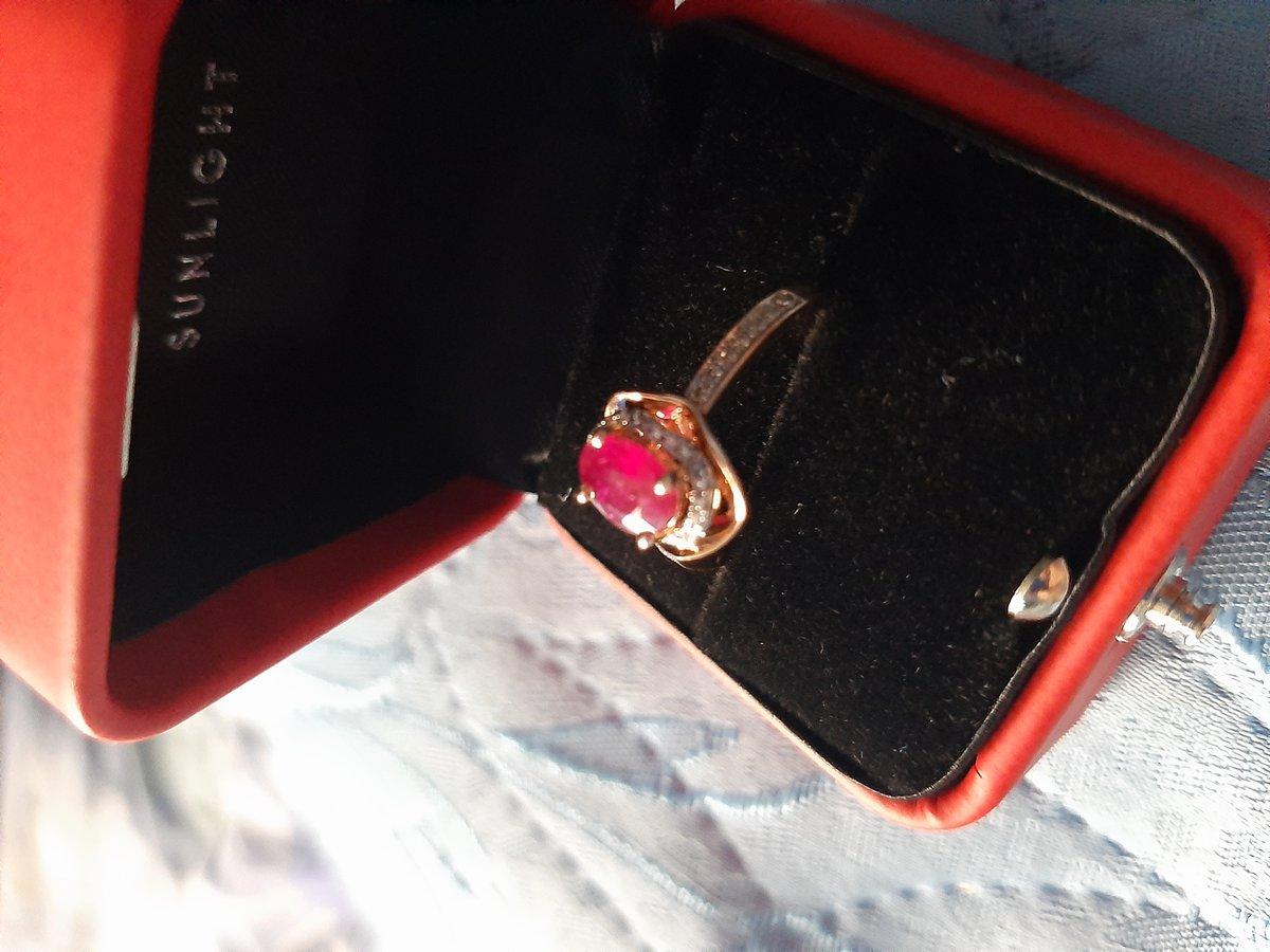 Кольцо с рубином и бриллиантами. Красота!