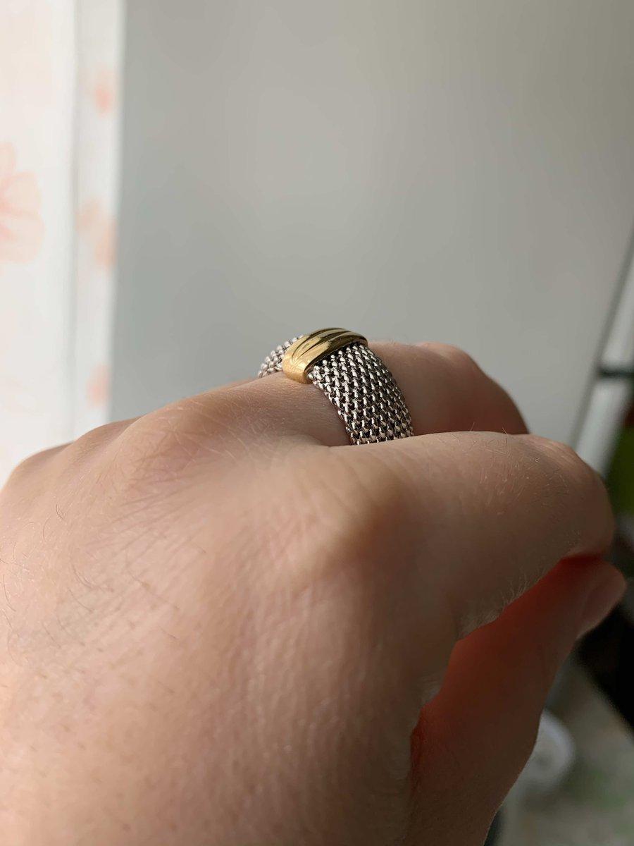 Мягкое серебряное кольцо