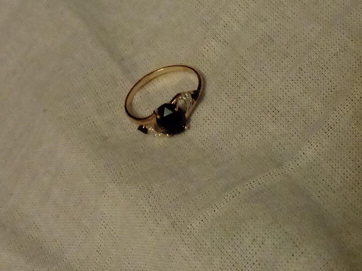 Кольцо с черным агатом