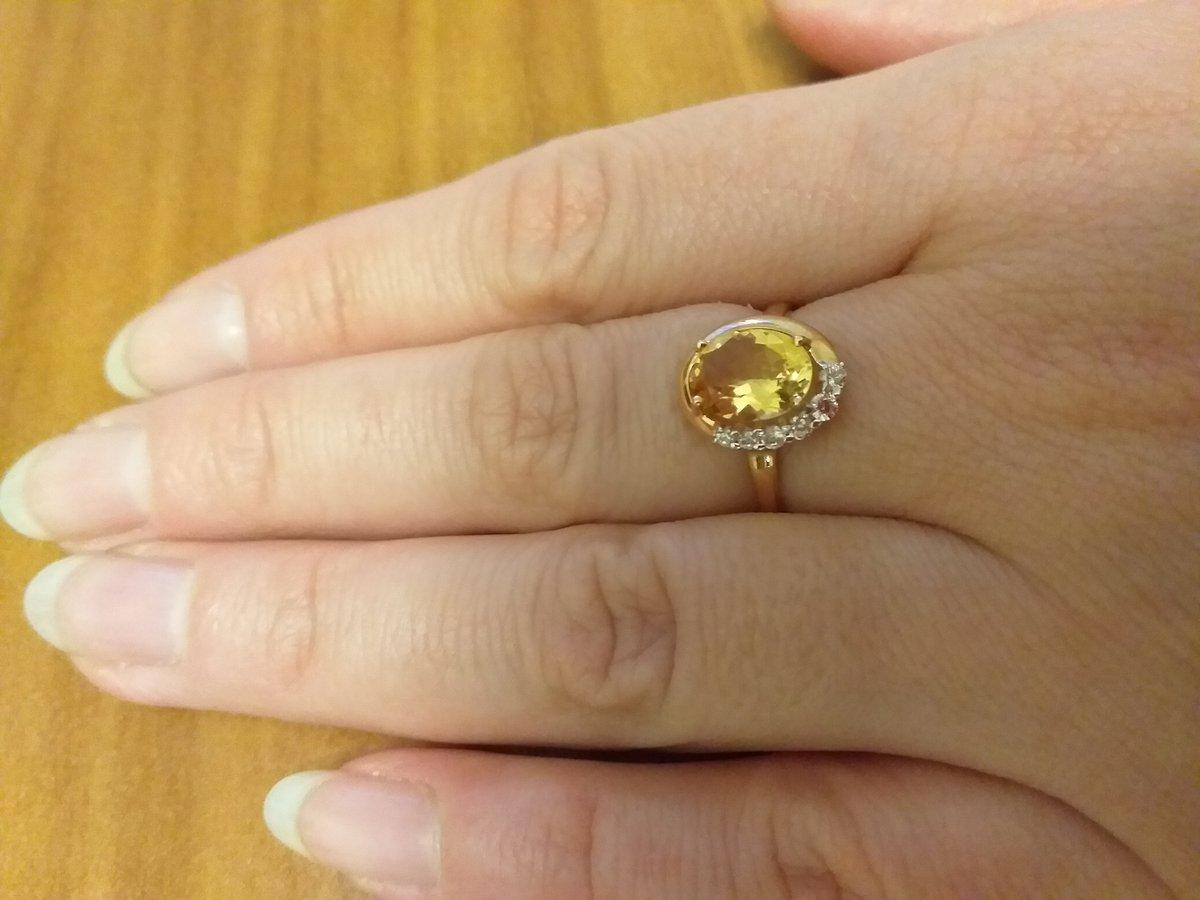 Кольцо с солнечным аметрином