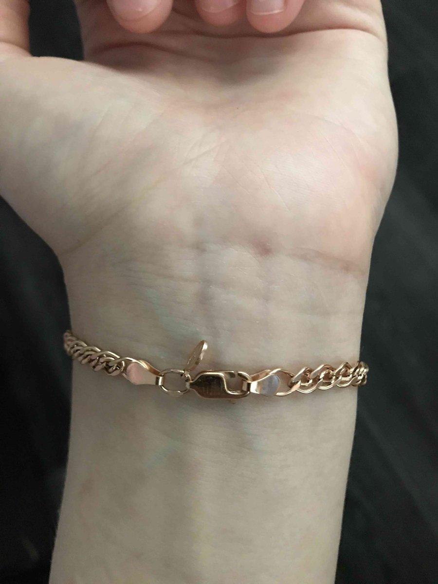 Золотой браслет 19 размер