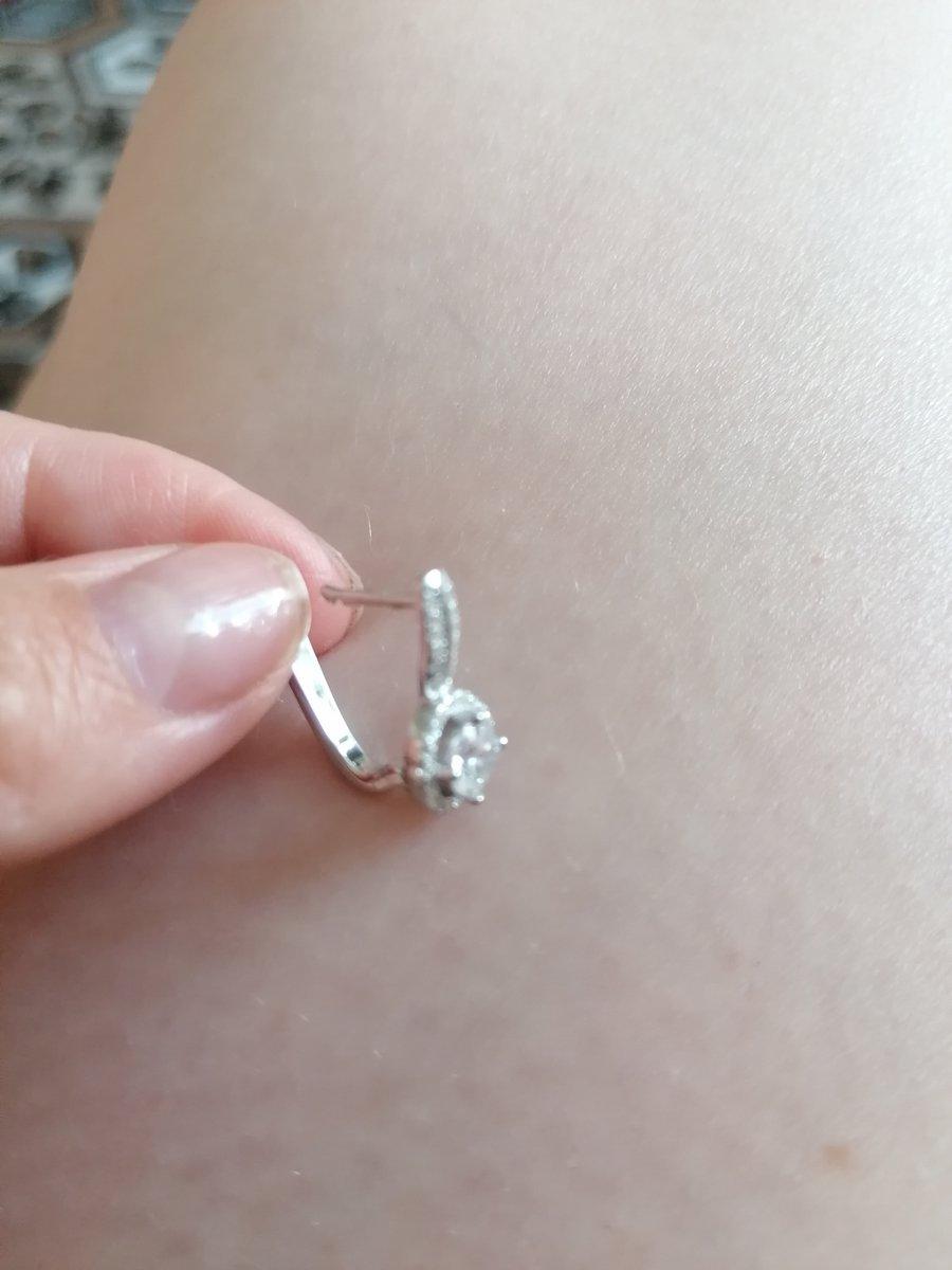 Серёжки серебряные с фианитом