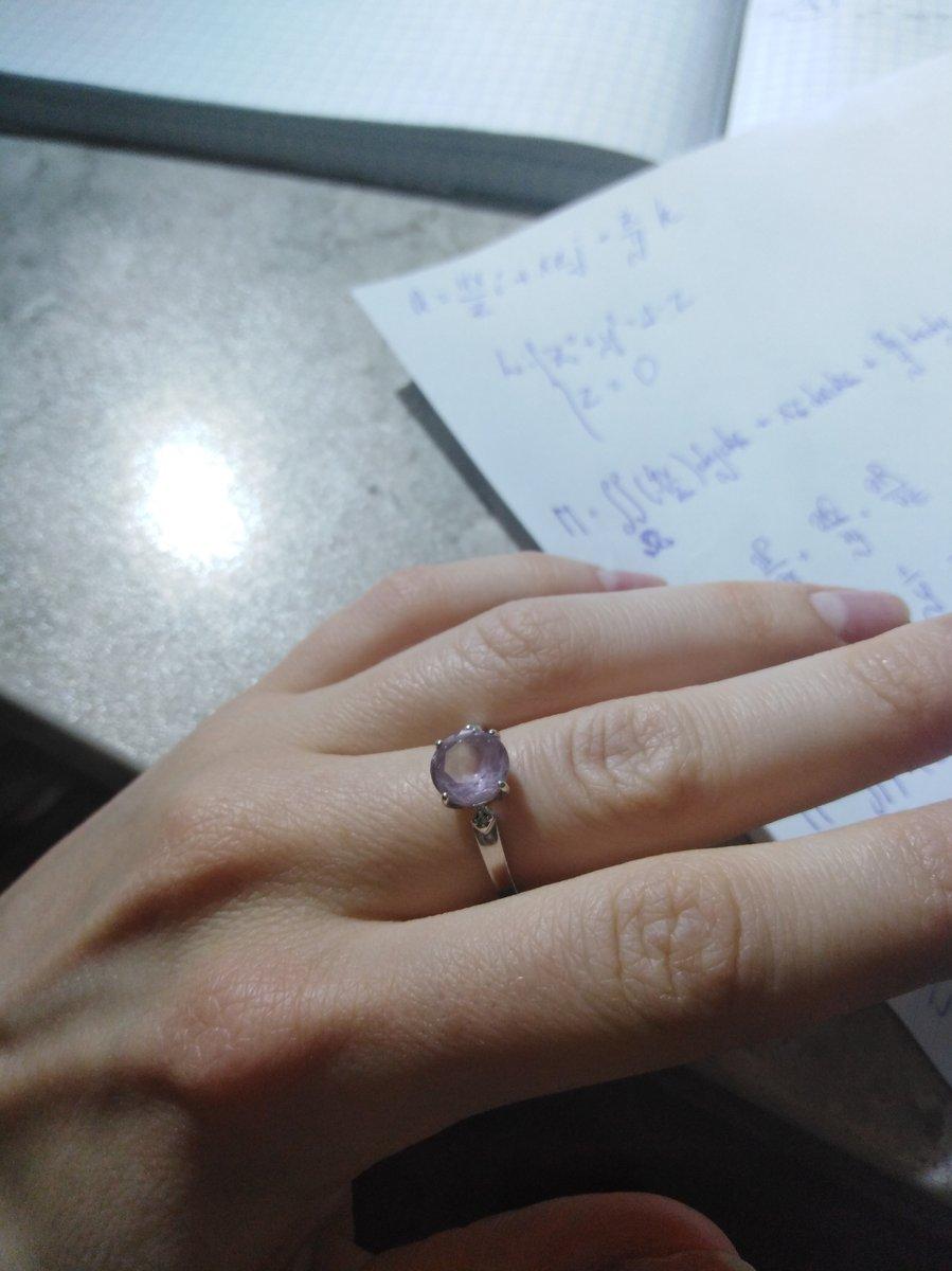 Прекрасное кольцо для любительниц чудесного фиолетового.