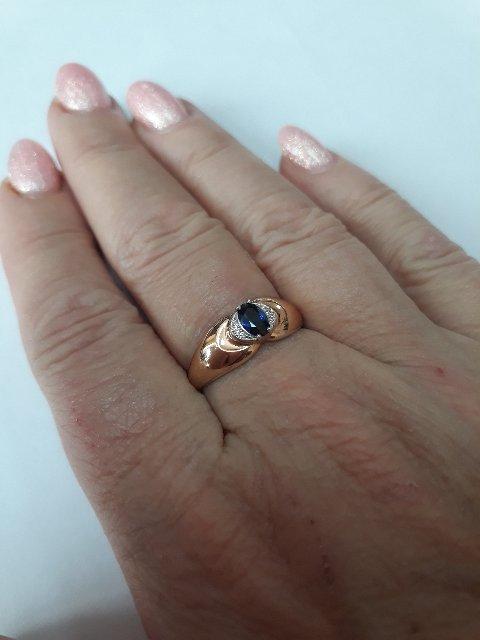 Роскошное сочетание сапфира и бриллиантов