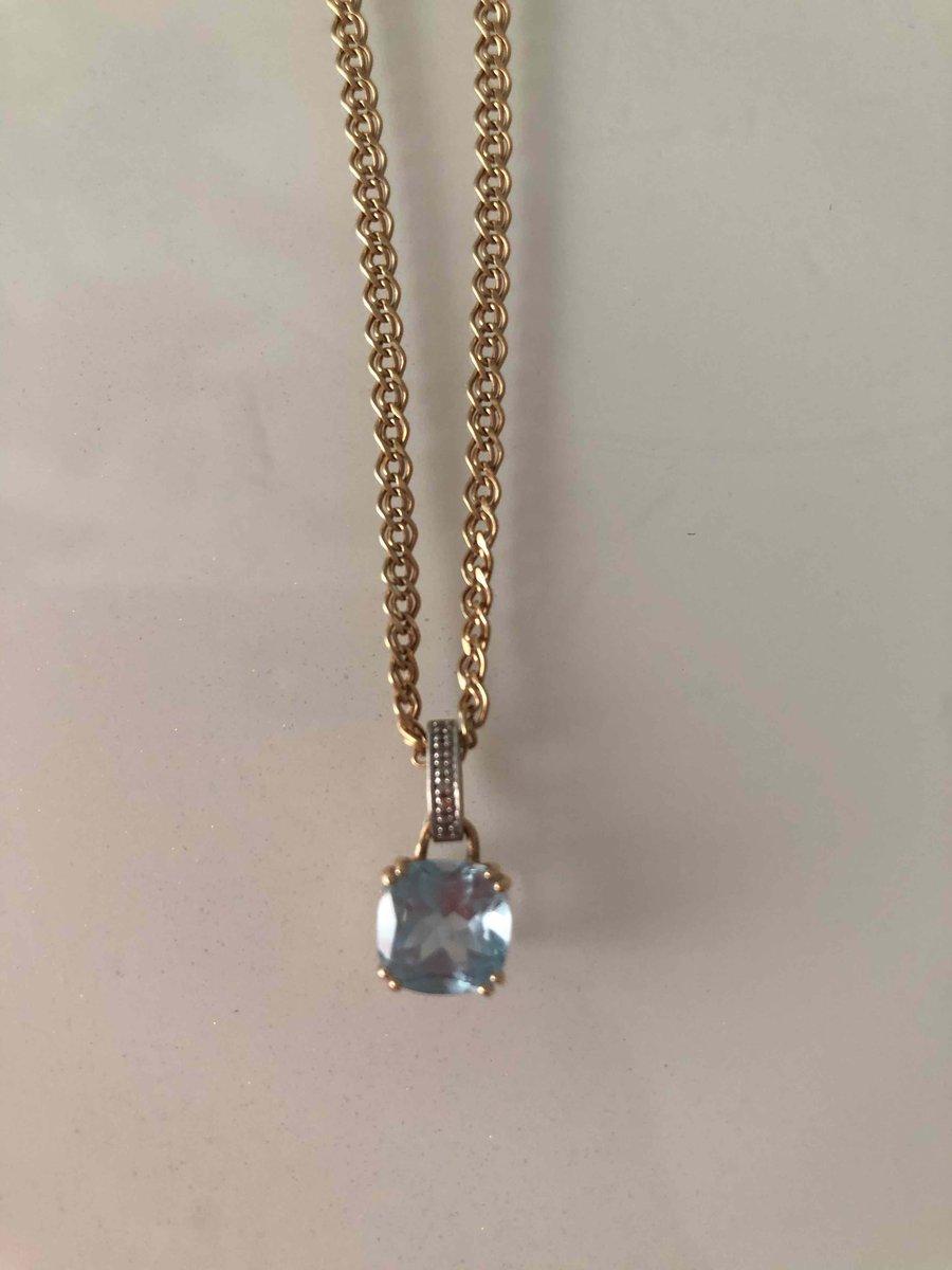 Золотая подвеска с топазом и бриллиантами