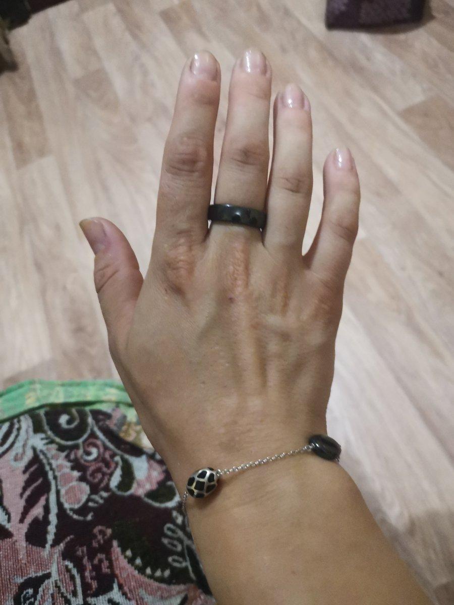 Серебряный браслет с керамикой и эмалью
