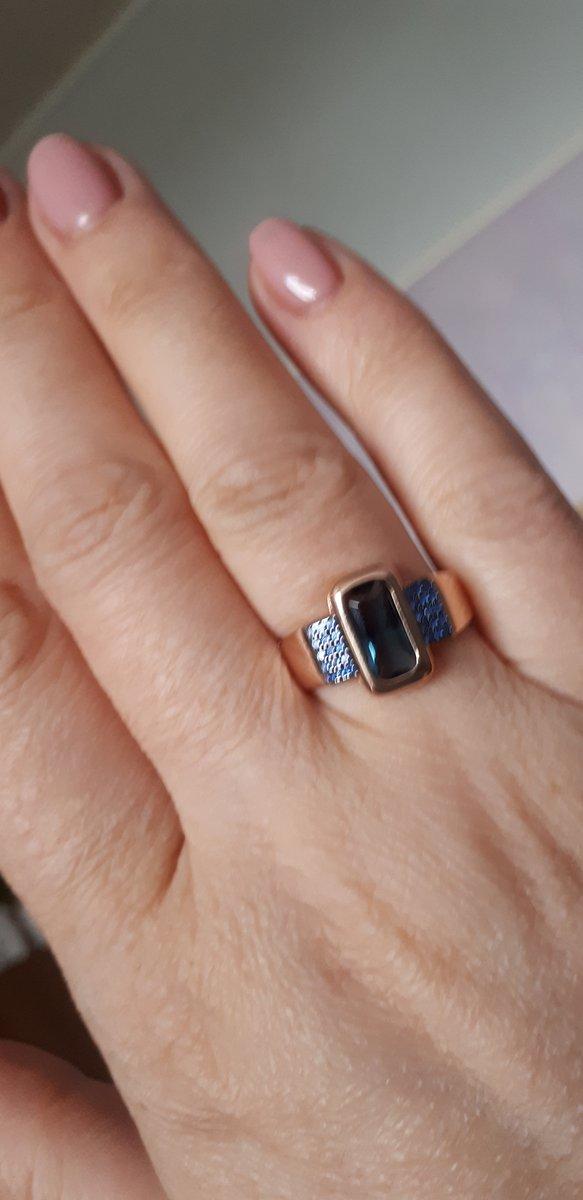 Серебрянное кольцо с наносапфирами