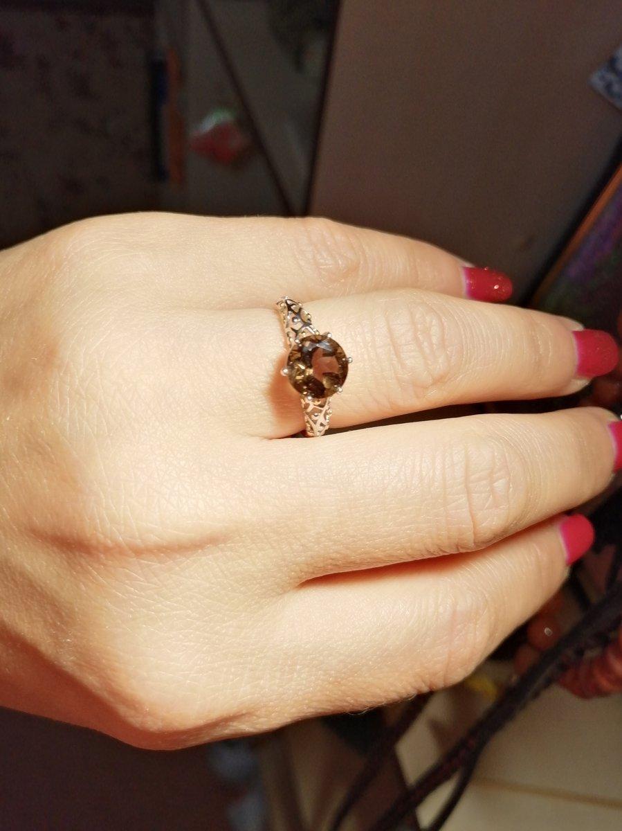 Кольцо раухтопаз